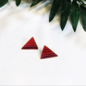 Vintage 80's Red Earrings